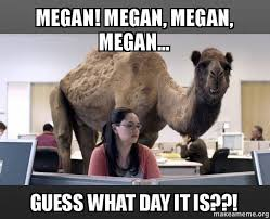 Megan Meme - megan megan megan megan guess what day it is hump day