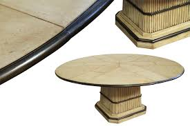 tropical round to round dining table pickled finish ebony trim