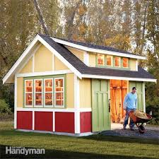 How To Build A Shed Base Out Of Wood by Shed Plans Storage Shed Plans The Family Handyman