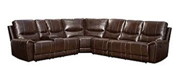 sectional recliner sofa amazon com homelegance 4 piece bonded leather sectional reclining