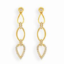 stylish gold earrings earrings stylish gold curve earrings grt jewellers