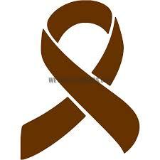 brown ribbon awareness ribbon westuckstickers