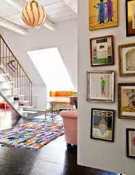 Interior Duplex Design Boucherouite Area Rug In A Duplex Interior Design Boucherouite