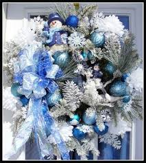 Blue Decorated Christmas Wreaths by 169 Best Christmas Wreaths Images On Pinterest Christmas Ideas