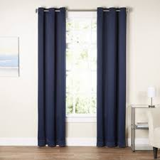 Blue And Brown Curtains Blue Curtains Drapes You Ll Wayfair