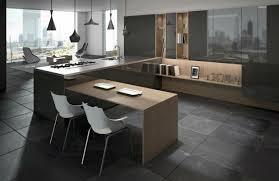 cuisine avec bar table cuisine en u avec table photos de design d int rieur et