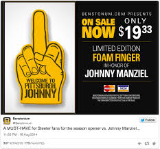 Pittsburgh Steelers Memes - pittsburgh steelers fans selling hilarious foam finger for week one