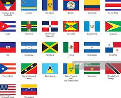 Latin Country Flags Flags Of Caribbean Vector Art Getty Images
