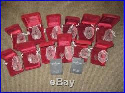set of 12 waterford 12 days of ornaments nib