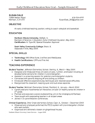 Elementary Education Resume Sample by Preschool Teacher Resume Sample Resume For Your Job Application