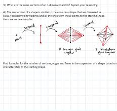 solved 3 what are the cross sections of an n dimensiona