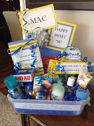 new gift baskets new driver gift basket put emergency items in a plastic bin with
