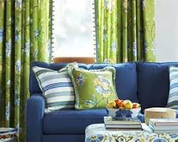 Navy And Green Curtains Navy Blue Sofa Lime Green Drapes Home Decor Navy