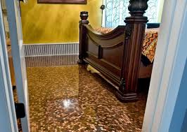 minnetonka home features floors made out of 97 000 pennies