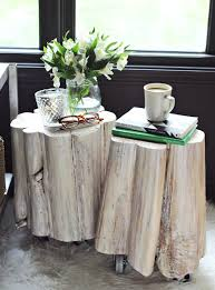 side table side table on wheels room with reclaimed tree