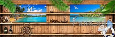 3d wood cabin inside windows beach entire living room business 3d wood cabin inside windows beach entire living room business wallpaper wall mural idcqw 000288