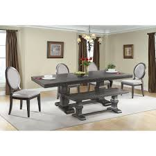 search results for u0027renegade walnut 6 piece wood dining set with