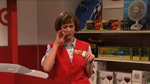 kristen wiig penelope thanksgiving watch target lady meets her first from saturday night