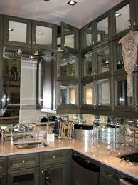 mirrored kitchen backsplash mirror door fronts and backsplash in the kitchen home