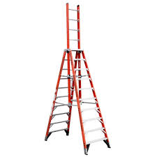 werner 28 ft fiberglass extension ladder with 300 lb load