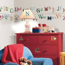 details about alphabet removable vinyl wall decals kids room decor alphabet removable vinyl wall decals kids room decor 73 big stickers abc letters roommates