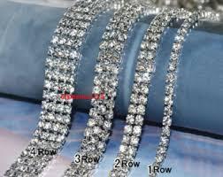 rhinestone bands rhinestone chain etsy