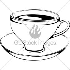 cup of coffee vector sketch gl stock images
