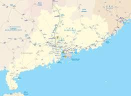 Guilin China Map by Rail Map Of Guangdong Johomaps