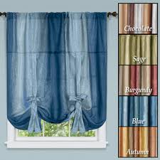 Tie Up Valance Curtains Ombre Sheer Tie Up Shade Window Panel From Collections Etc