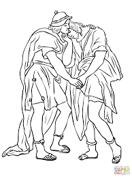 jonathan and david friendship coloring page free printable