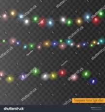 set color garlands christmas decorations lights stock vector