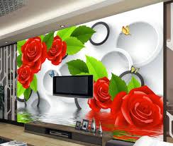 3d murals home decoration 3d flower wallpaper rose 3d mural wallpaper 3d