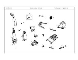 l post replacement parts vax ccw 301 rapide carpet washer diagram 1 spare parts diagram