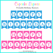 happy birthday banner printable letters template blue free gift