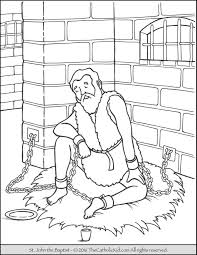 john the baptist baptizing jesus coloring page throughout baptizes