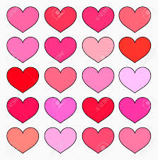pink color shades hearts in various shades of red and pink color valentine s