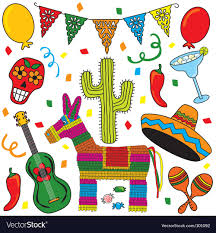 Mexican Party Flags Mexican Fiesta Party Royalty Free Vector Image