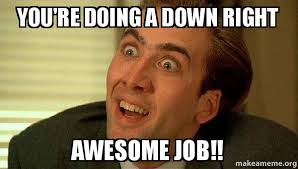 Awesome Meme - you re doing a down right awesome job sarcastic nicholas cage