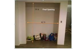 Bifold Closet Door Sizes How To Measure For Bifold Closet Doors Image Bathroom 2017