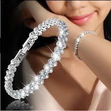 diamond bracelet sterling silver images Jewelry roman sterling silver new fashion roman style woman 925 jpg