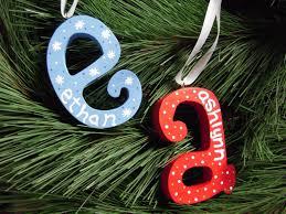cute initial ornament paint wooden letter then use paint pen to