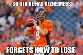 Manning Meme - peyton manning throws 7 tds becomes internet meme