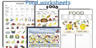 food worksheets worksheets
