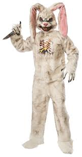 bunny costume rotten rabbit costume scary bunny suit mascot size