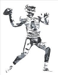 Oakland Raiders Curtains Derek Carr Oakland Raiders Pixel Art 12 Mixed Media By Joe Hamilton