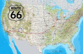 map us highway route 66 road route 66 usa highway map america canada coast