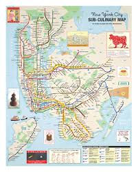 map for new york the new york city sub culinary map rick meyerowitz