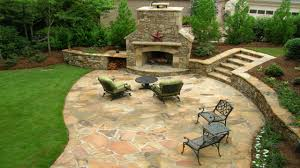 stone patio ideas christmas lights decoration