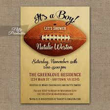football themed baby shower baby shower invitations football baby shower invitations
