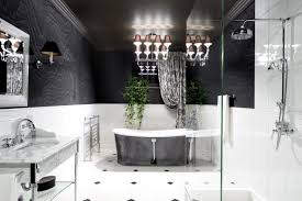 black and white bathroom decorating ideas black white bathroom decor modern gray ceramic flooring idea silver
